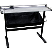 """United Rotary Paper Trimmer with Metal Stand - 37"""" Cutting Length - 10 Sheet Capacity - Gray"""