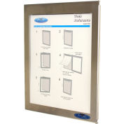 Frost® Enclosed Event Log & Communication Display w/ Stainless Steel Frame