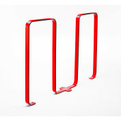 Linguini 5 Bike Capacity Steel Bike Rack, Red