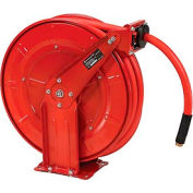 "Florida Pneumatic 6802 1/2""x50' 300 PSI Spring Retractable Low Pressure Steel Hose Reel"