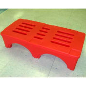 "SureStack Dunnage Rack 48""W x 22""D x 12""H - Red"