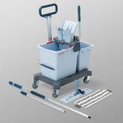 Vileda Professional UltraSpeed Pro Double bucket Kit, Gray/Blue - 148344