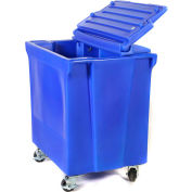 ColdStor™ 8002491 Ice & Beverage bin-Body, lid, and caster, Blue