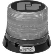 Federal Signal, Ultrastar Model 8482, Strobe Beacon, 12-24 VDC, Permanent/Pipe Mt, Tall Clear Dome