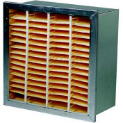 """Filtration Manufacturing 0206-DH920246 Rigid Cell Filter Double Header Merv 14 20""""W x 24""""H x 6""""D - Pkg Qty 2"""