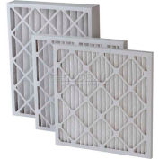 "Filtration Manufacturing 0208H-16201 Pleated Filter, Merv 8, High Capacity, 16""W x 20""H x 1""D - Pkg Qty 12"
