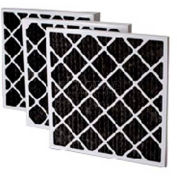 """Filtration Manufacturing 02OS-16254 Charcoal Pleated Filter , 16""""W x 25""""H x 4""""D - Pkg Qty 6"""