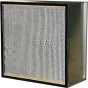 "Filtration Manufacturing 0901-G910122412 Hepa Filter, Merv 18, 1000 Cfm, 12""W x 24""H x 12""D - Pkg Qty 2"