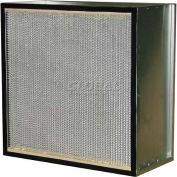 "Filtration Manufacturing 0901-G97122412 Hepa Filter, Merv 18, 750 Cfm, 12""W x 24""H x 12""D - Pkg Qty 2"