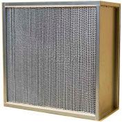 "Filtration Manufacturing 0920-G24126 Bio-Med Filter Merv 16 Alum. & Galv. Steel 12""W x 24""H x 6""D - Pkg Qty 4"