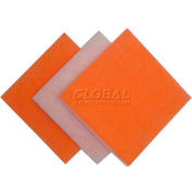 "Filtration Manufacturing 118A-25251 Polyester Media Pad Anti-Microbial Org/White 25""W x 25""H x 1""D - Pkg Qty 35"