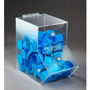 "FTR Enterprises Acrylic Dispensing Bins, Small, Clear, 5-1/2"" W x 9-1/2"" D x 9"" H"