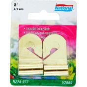"""National Hardware V2669 N274-977 Brass Steel 2"""" Suspended Ceiling Hanging Hooks - Pkg Qty 2"""