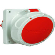 Walther Electric 539, Female Receptacle, 30/32A, 5P, 400Vac, 6 Hr, IP67, Angled 15 Degree