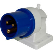 Walther Electirc 611306, Male Inlet, 16/20A, 3P, 230/250Vac, 6 Hr, IP44, Angled 80 Degree