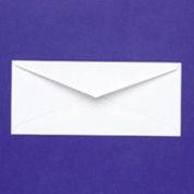 White Wove Business Envelopes, Gummed Flap, #10, 4-1/8 x 9-1/2, 100/Box
