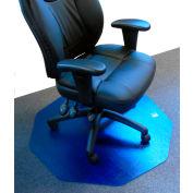 """Cleartex 9Mat Ultimat Chair Mat for Carpet - 38""""W x 39""""L - Cobalt Blue"""