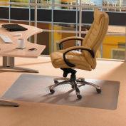 "Cleartex Advantagemat Rectangular Chair Mat for Carpet - 48""W x 79""L - Straight Edge"