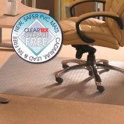 "Floortex Rectangular Chair Mat for Carpet - 36""W x 48""L - Straight Edge"