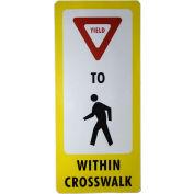 FlexPost® Pedestrian Crossing Decal