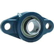 "FYH 2 Bolt Flange Mounted Ball Bearing EBFL20412KP8G5, 3/4"" Bore Dia., Set Screw, Economy"