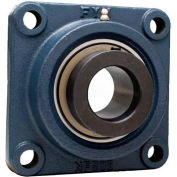 "FYH 4 Bolt Flange Mounted Ball Bearing NANF21239, 2-7/16"" Bore Dia., Eccentric Collar"