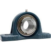 FYH Tapped-Base Pillow Block Mounted Ball Bearing UKP210, 50MM Tapered Bore Dia., Adapter Sleeve