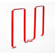 Linguini 5 Bike Capacity Steel Bike Rack, Red