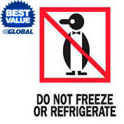 """Do Not Freeze Or Refrigerated 3"""" x 4"""
