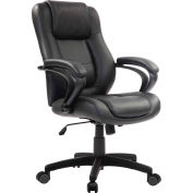 Eurotech Manager Chair - Leather - Black - Pembroke Series
