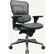 Eurotech Mesh Managers Chair - Mid Back - Gray - Ergohuman Series