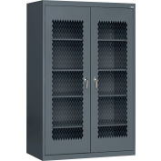 Sandusky Expanded Metal Front Storage Cabinet CA4M362472 -36x24x72, Charcoal