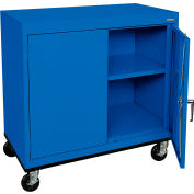 Sandusky Mobile Work Height Storage Cabinet TA11361830 Double Door - 36x18x30, Blue