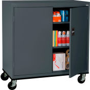 Sandusky Mobile Work Height Storage Cabinet TA2R462442 Double Door - 46x24x48, Charcoal