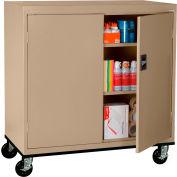 Sandusky Mobile Work Height Storage Cabinet TA2R462442 Double Door - 46x24x48, Sand