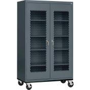 Sandusky Expanded Metal Door Mobile Storage Cabinet TA4M462472 - 46x24x78, Charcoal