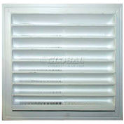 """Master Flow® Thermoformed Plastic Wall Vent, White, 8""""W X 8""""L, White - Pkg Qty 12"""
