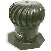 "Master Flow® Galvanized Internally Braced Turbine Combo, 12"" Dia, Weatherwood"