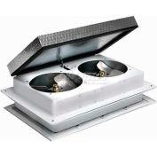 """Master Flow® Tandem Whole House Fan 16""""L X 24""""W 1,600 CFM"""