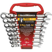 8 Pc. Flexible Combination Ratcheting Wrench Sets, GEARWRENCH 9701
