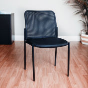 Mesh Back Guest Chair - Black