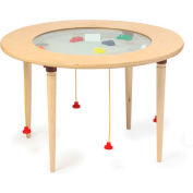 "The Children's Furniture Company® Round Magnetic Sand Table, 36""W x 22""H, Yellow"