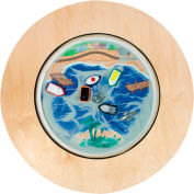 "The Children's Furniture Company® Round Magnetic Sand Table - Ocean, 36""W x 22""H, Orange"