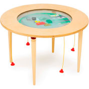 "The Children's Furniture Company® Round Magnetic Sand Table - Car/Truck, 36""W x 22""H, Yellow"