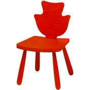"""The Children's Furniture Company® Poplar Shaped Chair, 12""""H Seat, Red"""