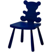 """The Children's Furniture Company® Bear Shaped Chair, 12""""H Seat, Blue"""