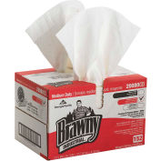 GP Brawny Industrial White All Purpose DRC Wipers, 152 Sheets/Box, 1 Box/Case - 20080/03