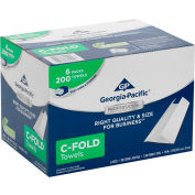 GP Georgia-Pacific Professional Series 1-Ply C-Fold Paper Towels, 1200 Towels/Case 2112014
