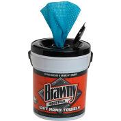 GP Brawny Industrial Blue Wet Hand Towels, 84 Towels/Pail, 6 Pails/Case - 21501
