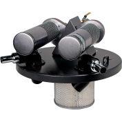 """55 Gallon Dual B Pneumatic Vacuum Generating Head w/ Dual 1.5"""" Inlets"""